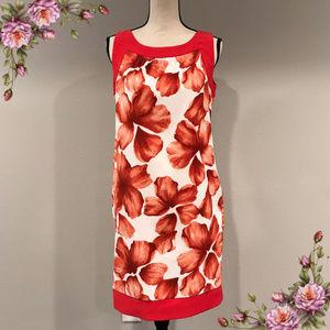 Dressbarn red floral dress.